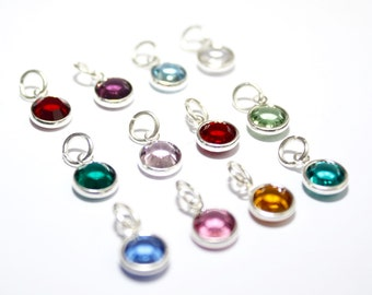 Birthstone Charms, Add On Charms, Personalise Your Jewellery, Add On Birthstone Crystal, Add on Birthstone Charms