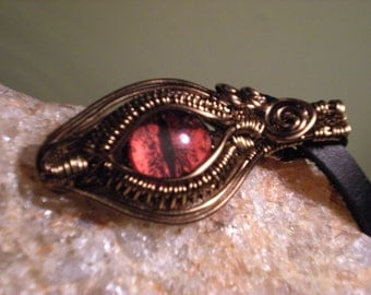 Wire Wrapped Red Dragon Eye