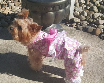 Pink Daisy Overalls