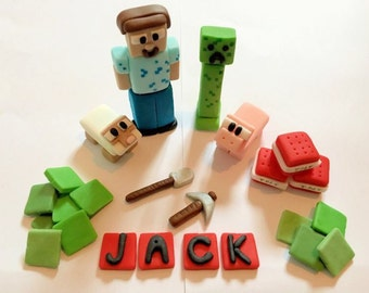 Edible minecraft cake topper set (unofficial)