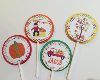 Fall Little Pumpkin Cupcake Toppers-12ct