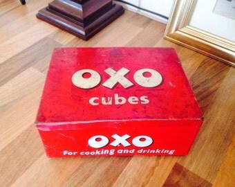 Vintage Oxo Cube Tin