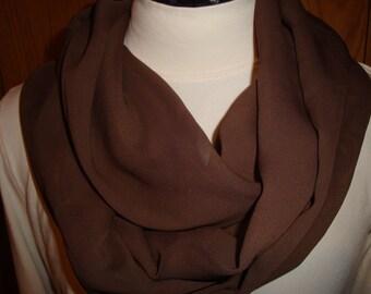 Chocolate Chiffon Infinity scarf