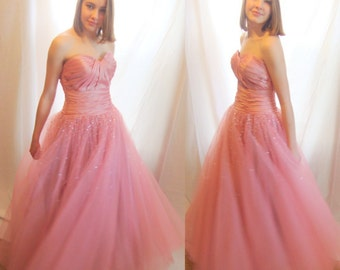 Spring formal gown,  prom gown, ball gown, evening gown,formal, princess style, strapless, full sweep, Alyce Designs, Seralina, Sz 8, NOS
