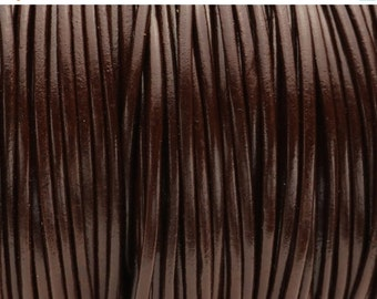 40% OFF 2MM Round Mahogany Brown Leather Cord - Top Quality - 1M/39.4