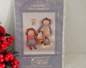 Cinnamon Stick Raggedy Dolls Uncut Sewing Craft Pattern Vintage 1990 My Sister and I DIY Home Decor