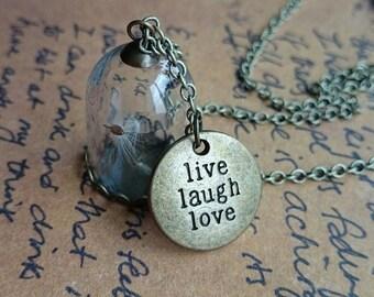 Dandelion Wish Glass Dome Necklace