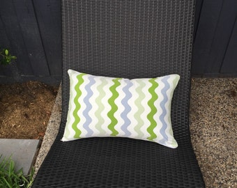 Rectangle Outdoor Cushion Cover/pillow in Warwick Coolum Outdoor Fabric in Merrimbula Lime