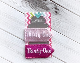 Thirty-One Paper Clip - Thirty One Paper Clip - Planner Paper Clip - Thirty-One - Planner Tag Feltie - Planner Accessories