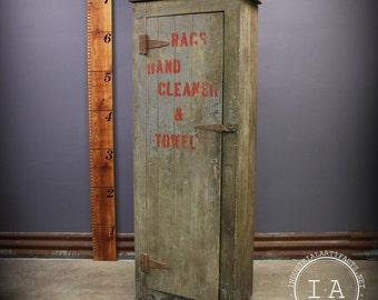 Vintage Industrial Handmade Primitive Shop Cabinet Storage