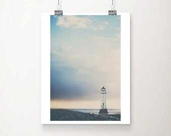 lighthouse photograph beach photograph nautical photograph lighthouse print coastal print pastel home decor sunset photograph