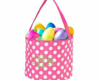 Easter bucket/basket/tote/bag personalization/embroidery