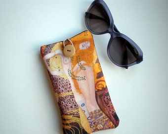 Sunglasses case, eyeglasses case, Gustav Klimt art, Soft eyeglass case, Case for sunglasses, Quilted eyeglass case, Klimt