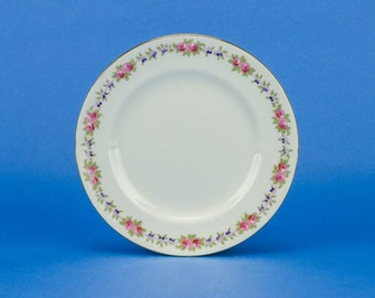 6 Edwardian Vintage 7'' Floral Unique Aynsley PLATES Porcelain Elegant Cake Dinner 1920s English LS