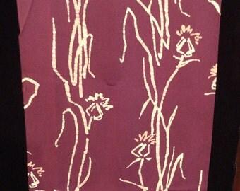 SF1002 Purple Batik Silk