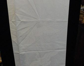 SF1515 White Cranes Silk Fabric