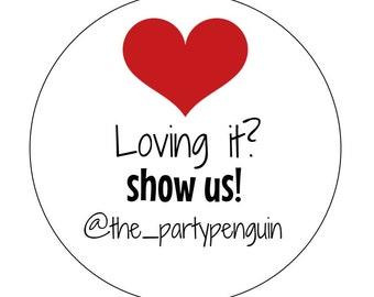 Packaging Stickers, Instagram Stickers, Promoting Labels, Shop Labels, Heart Stickers, Instagram Labels, Packaging Labels, Shop Promoting