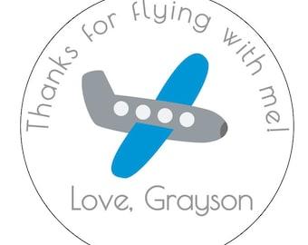 12 Airplane Stickers, First Birthday, Airplane Theme, Plane Party, Aviation Birthday, Boy Birthday, Baby Shower, Plane Theme, Airplane Party