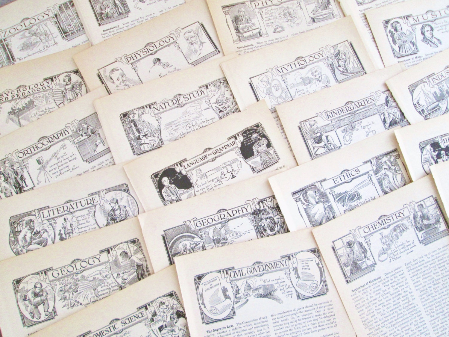 Vintage antique book paper 32 pages 1913 reference book for Vintage book paper