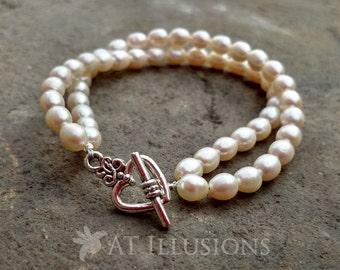 Handmade Freshwater Pearl Bracelet
