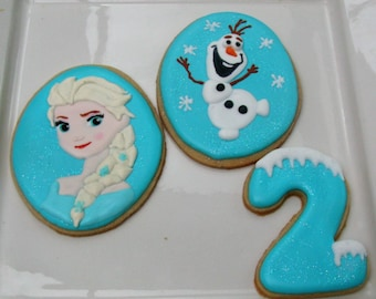 Frozen  Cookies Elsa and Olaf