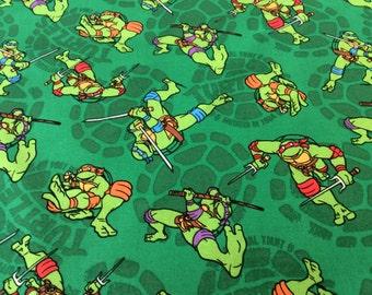 "Teenage Mutant Ninja Turtles curtain valance 41"" x 15"" in 100% cotton - Handmade New."