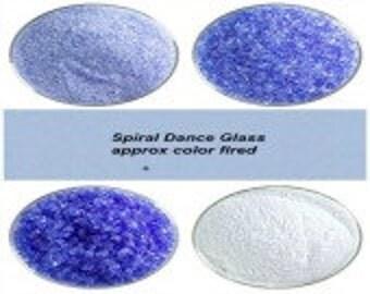 Bullseye COE 90  Light Sky Blue Transparent Kiln Fusing Glass Frit~ 2oz Choice  Fusing Supplies