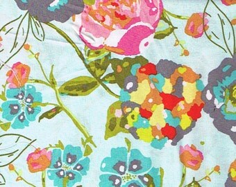 Blue Floral Fabric-Garden Rocket in Blue- Art Gallery Fabrics - 1/2 yard