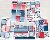 4th of July Weekly Planner Kit - Weekly Stickers, Planner Stickers, Weekly View Planner, for use with ERIN CONDREN LifePlanners