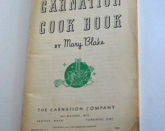 Vintage Cookbook, Carnation Cook Book, 1937