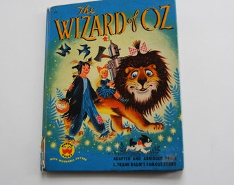 Vintage Children's Book, The Wizard of Oz