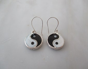 Sterling Silver Yin Yang Earrings