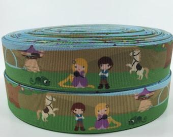 BTY 1 Inch Disney Rapunzel Prince Kids Grosgrain Ribbon Great for Hair Bows Scrapbooking Lanyards Pacifier Clips  Lisa