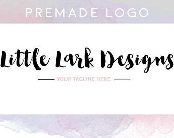 Premade Logo: Little Lark Designs - brush bold font