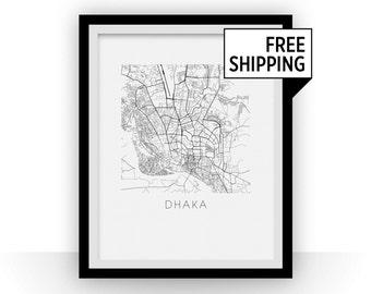 Dhaka Map Print