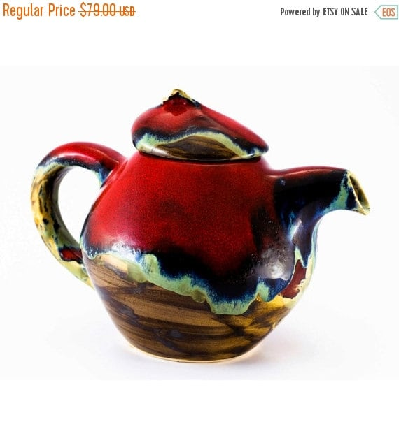 Sale Coffee Pot Teapot Kettle Pottery Red Pot Ceramic By