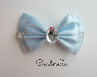Cinderella Bow, Disney,  Hair Accessories,  Hair Clip, Princess Bows