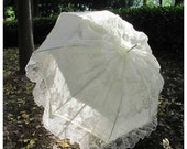 ON SALE READY To Ship Wedding Parasol Lace Bridal Umbrella with Multi Layers of Gorgeous Lace  in Ivory 1pc