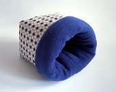 cosy sleeping bag / cuddle sack for guinea pigs, hedgehogs or sugar gliders (blue stars/dark blue)