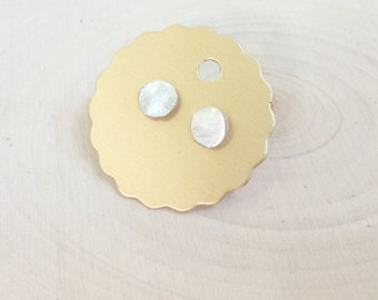 Sterling Oval Studs