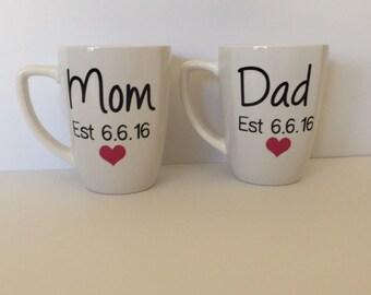 New Mom and Dad Mugs