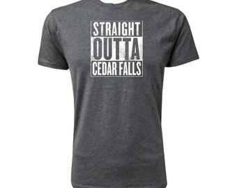 Straight Outta Cedar Falls (White) - NLA Vintage Black