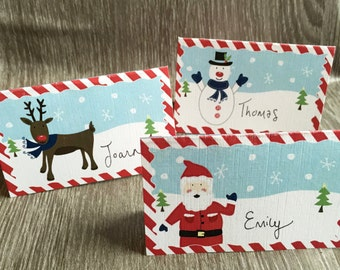 Christmas Place Cards or Table Settings - Pack of 6
