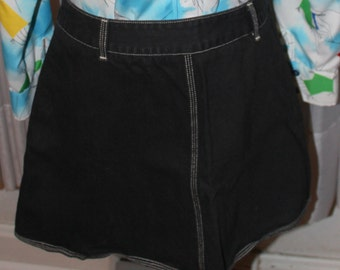 Vintage 1990's Pepe Jeans London Black Jean Skirt