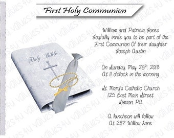 Personalized Communion Invitation (communionboy2035)