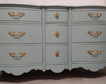 Sold - - Refinished gorgeous vintage French Provincial dresser by Bassett