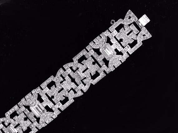 1930's Art Deco Rhinestone Bracelet, Engel Brothers