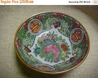 SALE Vintage Early 1900's Rose Medallion Chinese Porcelain Cup Nut Dish Saki Cup Made in Hong Kong