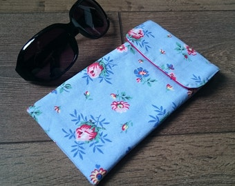 REDUCED Sunglasses Case - Glasses Case - Flower fabric