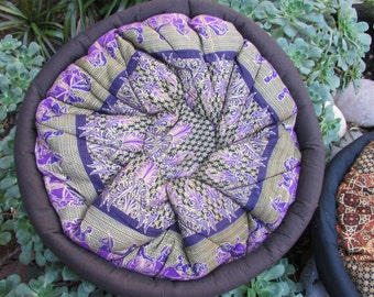 Round Pouf Pillow cover Boho Hippie